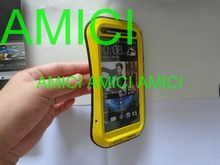 LOVE MEI Small Waist Ultimate Protection Waterproof Shockproof Dustproof Metal Case For HTC New One M7 with Gorilla Glass