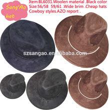 wholesale Cheap promotion wide brim shepherd hats woolen fabric cap wear as bucket hat/dress for casual/ headwear hat &caps