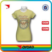 sublimation printed beautiful t-shirt ladies