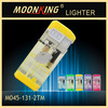very cheap hot sale plastic windproof cigarette lighter with five transparent colors