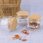 Languo glass and wood round small containers for gifts Model:LGZY-2985