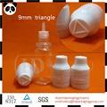 Squeeze plástico frascos conta-gotas com muitos bonés coloridos, 10ml garrafa pet para a nicotina criança invioláveis