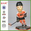 Custom hockey player bobble head figurine