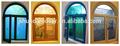 alemán de madera maciza curvada doble ventanal fijo ventanas redondas
