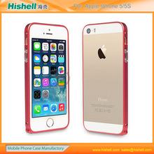 diamond metal bumper case for iphone 5