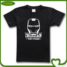 Cheap custom 100% cotton iron man printing t-shirt, short sleeve t-shirt