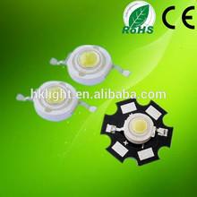 Epistar chip led for pure white color led 3w super bright led