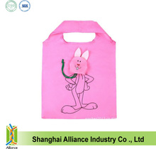Rabbit Shape Foldable Polyester Shopping tote Bag