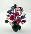 دمية مصغرة الزهور بالجملة مقياس 1/12 زهور اصطناعية كلاي الصغيرة
