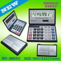 mini pocket size calculator Factory supply folding 12 digits calculator 8855
