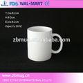 11oz blanco de cerámica tazas y tazas sublimación
