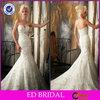 OEM Service Taobao Wedding Dress Mermaid Strapless Sweetheart Lace Appliqued Beaded ED-YH554