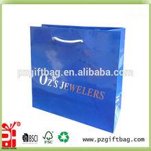 printing blue shoes shopping paper bag