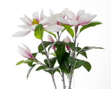 SJWS14061305 Made in China high quality rubber material home decoration fake artificial lotus magnolia flowers