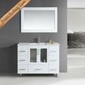 moderna de chão do banheiro armário de madeira maciça de carvalho preto vaidade do banheiro