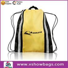 Custom Dual pocket cool drawstring bags