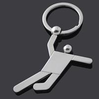 Metal basketball keychain for souvenir custom logo (J10318)
