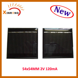 2v 120mA 54x54mm Epoxy Small Solar Panels for Toys