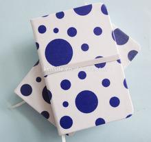 Fancy fabric handmade journals notebooks with crosswise elastic bind