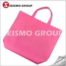 long handle non woven cloth bags cheap printed shopping bags