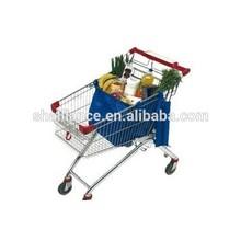 Resuable Blue Foldable supermarket Shopping Cart Bag
