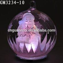 Wholesale Hanging LED Light Christmas Decorative Glass Snow Ball for Garden