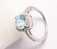 2014 Newest Fashionable Design 925 Sterling Silver Diamond Rings Set with Colorful Gemstones