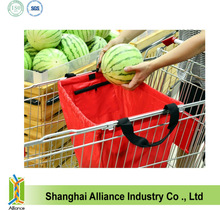 convenient recycled foldable shopping cart bags printing for sale