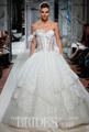 Nueva llegada hermoso ver a través de la blusa de encaje de novia Kleinfeld vestidos 2014