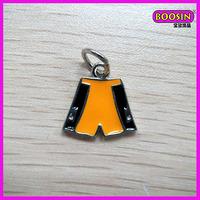 Fashion costume jewelry 2014 football trousers metal pendant(13933)