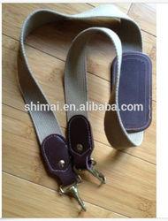 "Vtg Verdi Bag Luggage Strap Belt Replacemet Brown Tan Brass Clips Vtg 44.5"" Long"