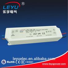 35W Plastic Case Class 2 LED Driver LPV-35