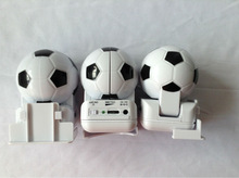 Portable foldable mini football speaker with USB cable or AAA battery supply power