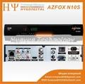 Azfox n10s hd dongle de la ayuda del receptor de satélite decodificador N10SFull hd azfox n10s con gratis iks cuenta para N3