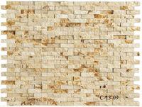 C-13-09 300x300MM quartz white marble mosaic tile of colored sand