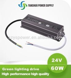 waterproof electronic led driver 24V 60W waterproof led driver ip67 meanwell led driver