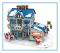 3d puzzles/rompecabezas dulce navidad candy shop, puzzle 3d moldes