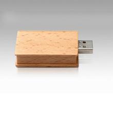 16gb wooden book usb flash drive