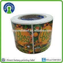 Hot sales printing self adhesive label,colorfull fancy customized adhesive label printer