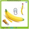 Fashion banana shaped rubber silicone children coin purse