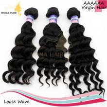 Top grade 100% Raw Natural black wholesale virgin malaysian human hair