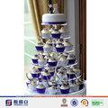 2014 quente!!!! Belo design de acrílico do bolo de casamento pilares display