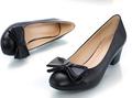 negro desnudo de la pu zapatos de tacón alto de la venta caliente señora mujer gruesa del talón bombas con zapatos de arcos