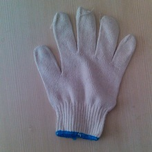 7/10 gauge white knitted cotton gloves manufacturer in china/600 grams nylon working gloves super quality