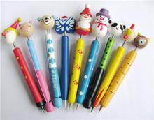 Handmade cute promotion school stationery wooden ball pen wholesale