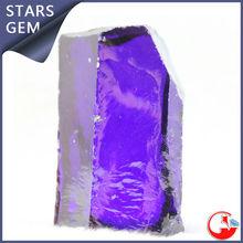 purple gemstone rough cz stones