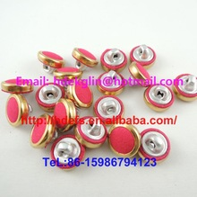 golden ring shank back fabric cover buttons