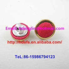 18L golden ring shank back fabric cover buttons