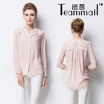 Women'S Clothing Chiffon Pink Blouse 26