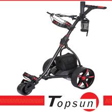 New electric golf cart electric golf trolley golf caddy trolley wheels golf trolley